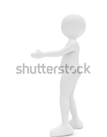 woman standing with hand outstretched Stock photo © fotoaloja