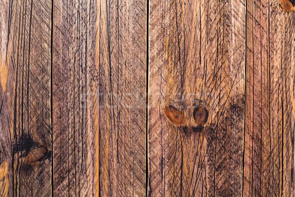 Muur houten geschilderd bruin boom Stockfoto © fotoaloja