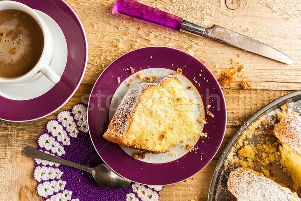 Cake baking food dough sweets dessert coffee Stock photo © fotoaloja