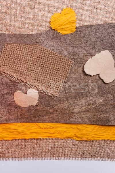 Valentine background material hearts texstile Stock photo © fotoaloja