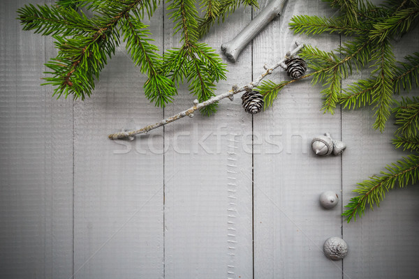 Christmas setting composition gifts forest Stock photo © fotoaloja