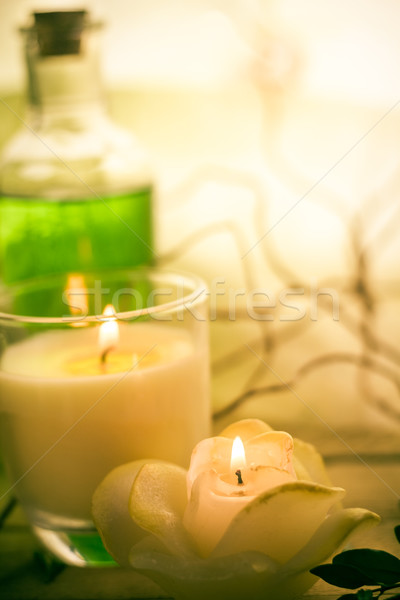 Elements spa treatments scented candles Stock photo © fotoaloja