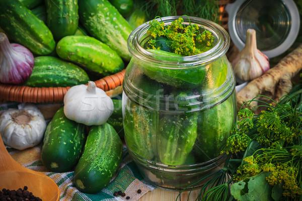 банку соленья другой Ингредиенты фермы рынке Сток-фото © fotoaloja