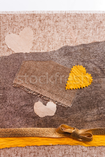 Valentine background material hearts texstile Stock photo © fotoaloja