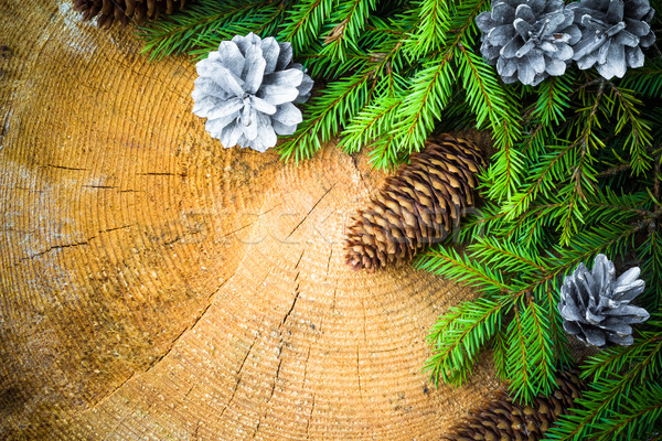 árbol de navidad ataviar pino Navidad fondo Foto stock © fotoaloja