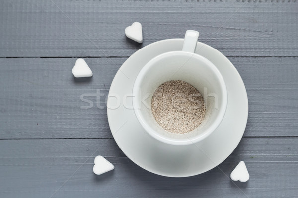 Capuccino cup coffee prepared boiling water flood Stock photo © fotoaloja