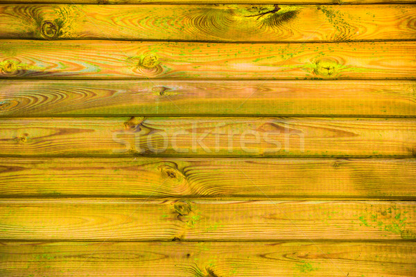 wall wooden planks covered paint primer Stock photo © fotoaloja
