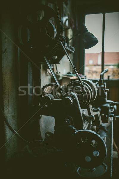 ヴィンテージ 金属 マシン ワークショップ 技術 業界 ストックフォト © fotoduki