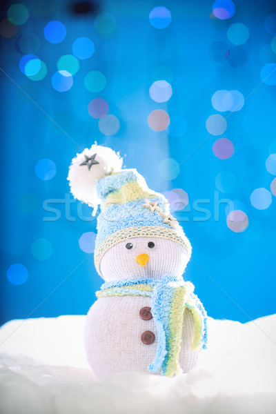 雪だるま 陽気な クリスマス 人形 光 背景 ストックフォト © fotoduki