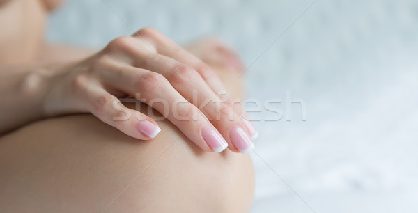 Beautiful Female Hands, Manicure clean concept Stock photo © fotoduki