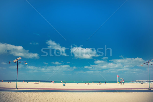 ビーチ 観光客 ターコイズ 海 空 太陽 ストックフォト © fotoduki
