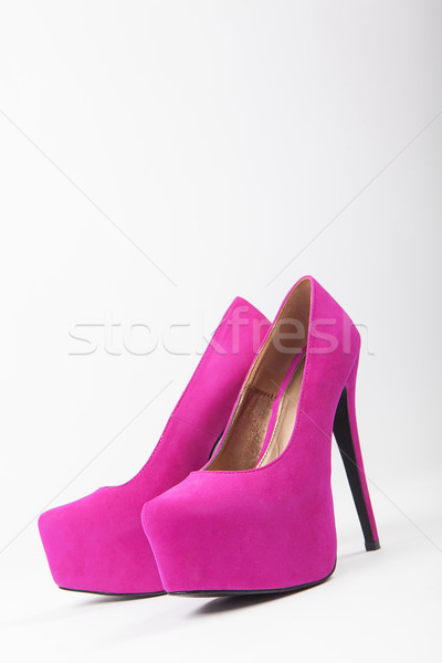 violet woman luxury shoes, high heels Stock photo © fotoduki