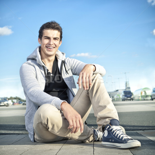 pretty young man outdoor Stock photo © fotoduki