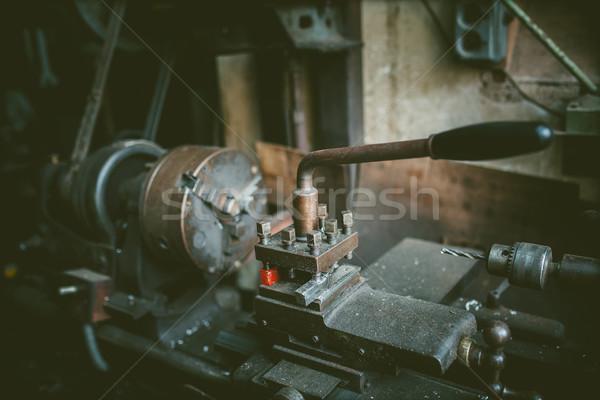 Vintage machine workshop metaal technologie industrie Stockfoto © fotoduki