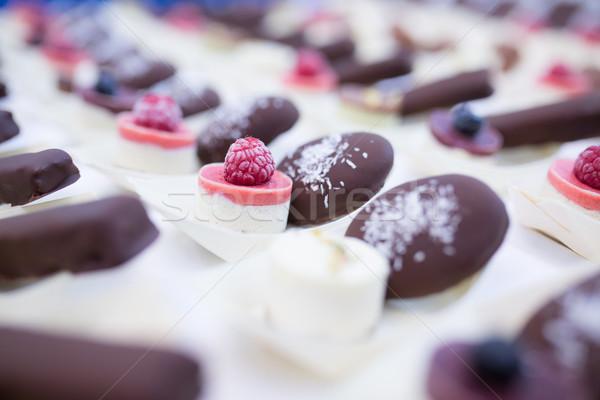 Shot chocolade chip cookie ruw Stockfoto © fotoduki