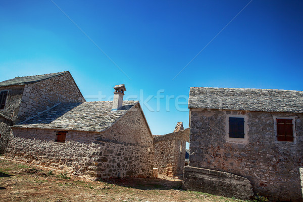 old stone rustic house Stock photo © fotoduki