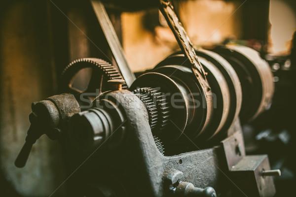 vintage turning machine in workshop Stock photo © fotoduki