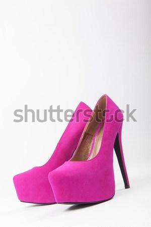 Kırmızı kadın lüks ayakkabı yüksek topuklu güzellik Stok fotoğraf © fotoduki