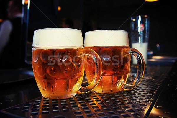 Groot bier glas bar tabel Stockfoto © fotoduki
