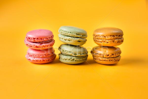 カラフル マカロン 黄色 ピンク オレンジ 緑 ストックフォト © fotoduki