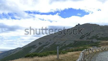 Zomer berg scène reis top blauwe hemel Stockfoto © fotoduki