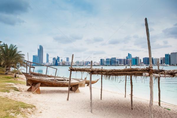 морем пляж старые роскошь Абу-Даби Сток-фото © fotoduki