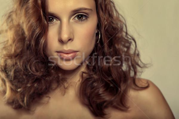 Jong meisje jonge brunette sexy mode Stockfoto © fotoduki