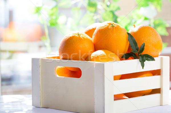 окна апельсинов полях Валенсия Испания весны Сток-фото © fotoedu