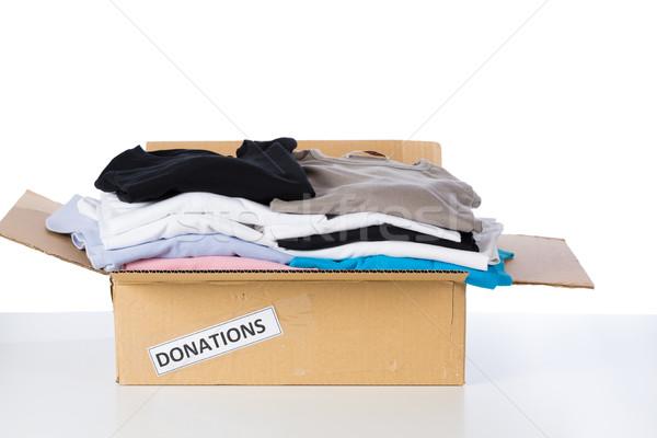 Ropa donación cuadro blanco humanos ropa Foto stock © fotoedu