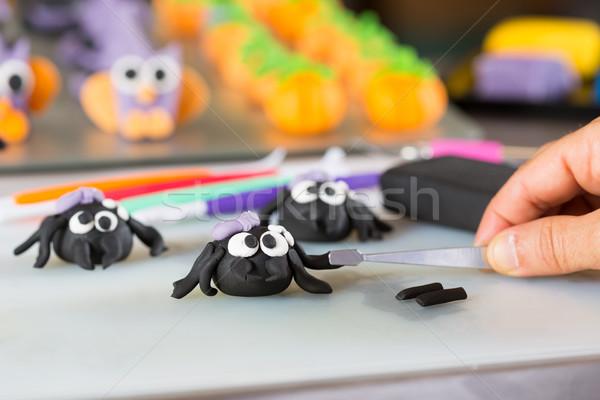 Confectioner with figures of halloween Stock photo © fotoedu