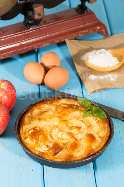 Manzana torta delicioso casero frescos manzanas Foto stock © fotoedu