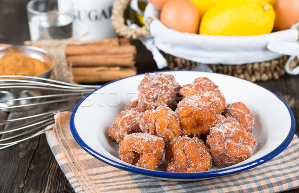 Homemade fritters with sugar Stock photo © fotoedu
