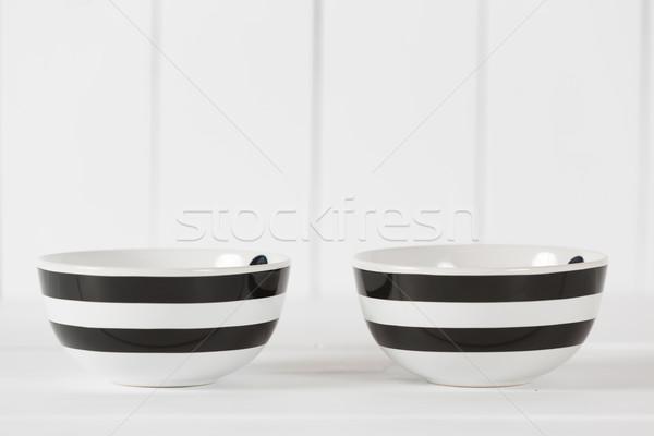 Foto stock: Cocina · tazón · dos · vintage · cocina · retro
