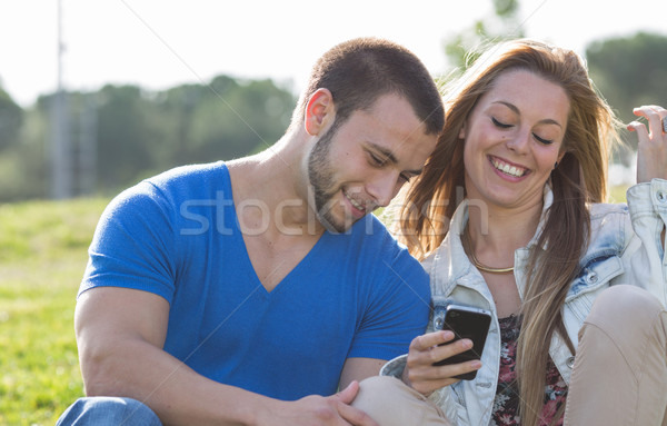 Stock photo: Dating couples