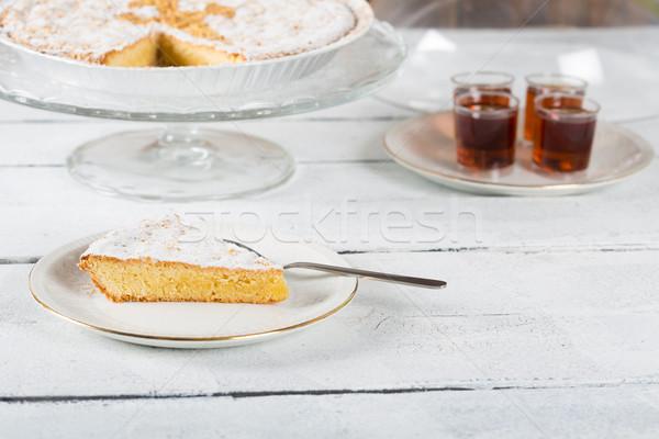 Santiago amandel cake heerlijk handgemaakt vers Stockfoto © fotoedu