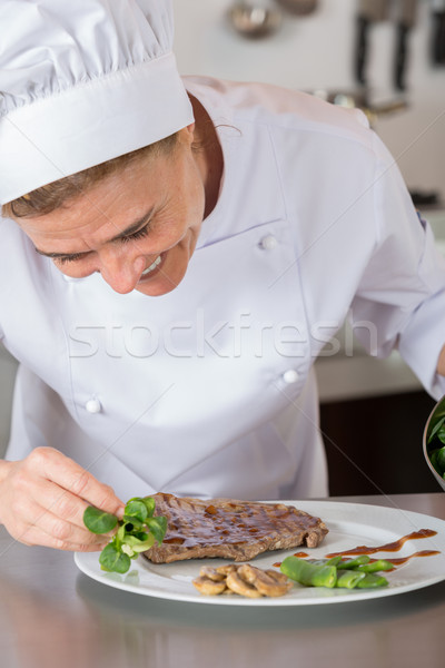 Chef finishing your plate Stock photo © fotoedu