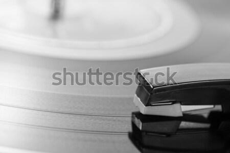 Lemezjátszó öreg lemez játszik diszkó fekete Stock fotó © fotoedu