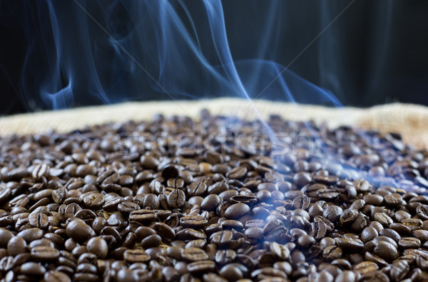 Granos de café negro fondo beber Servicio Foto stock © fotoedu