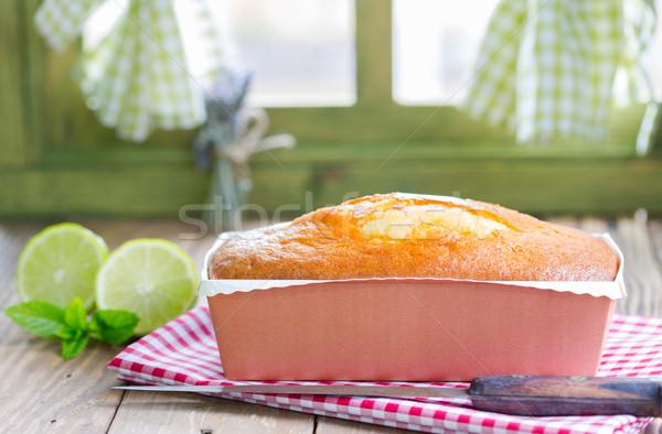 Caseiro bolo limão cozinha janela Foto stock © fotoedu