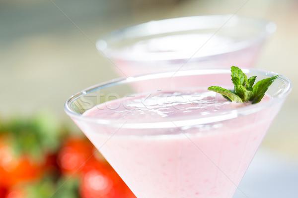 Strawberry milkshake Stock photo © fotoedu