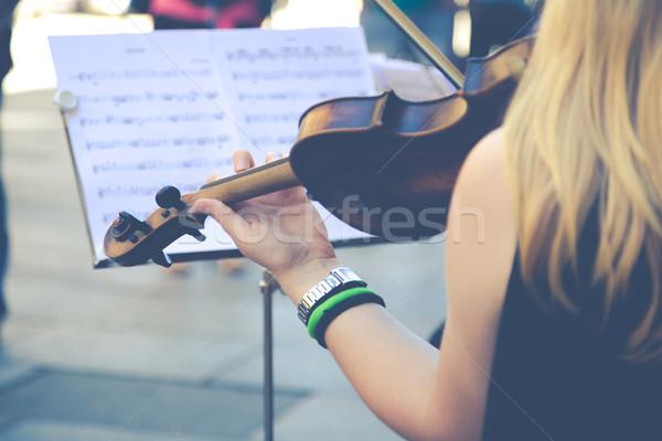 Fiddler on the street Stock photo © fotoedu