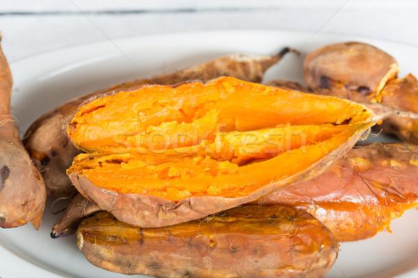 édes krumpli évszak lédús finom frissen Stock fotó © fotoedu