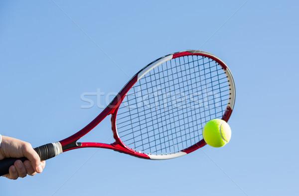 мяча спорт лет теннис Сток-фото © fotoedu