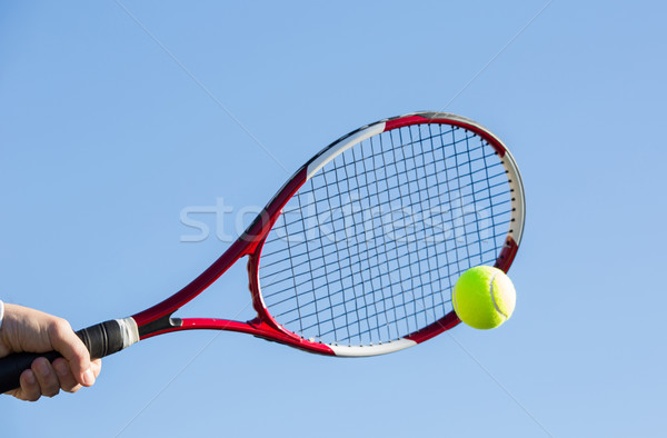 Tennis player hitting the ball Stock photo © fotoedu