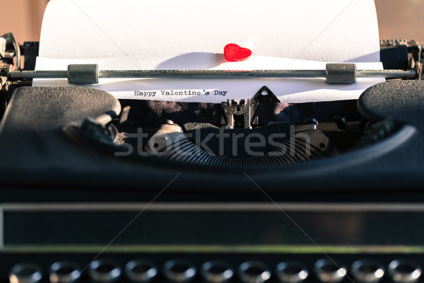 Old typewriter with words of love Stock photo © fotoedu