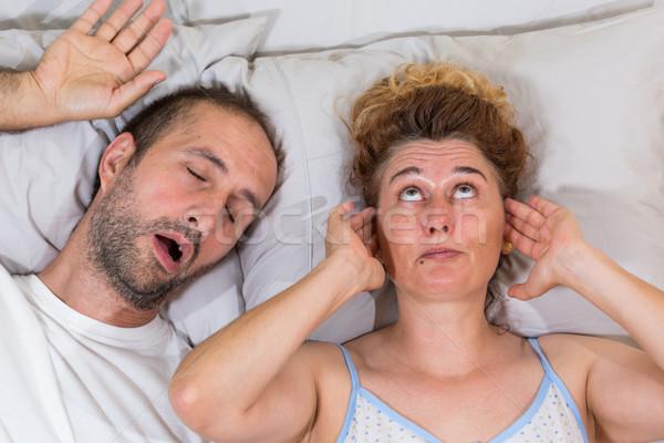 Husband snoring Stock photo © fotoedu