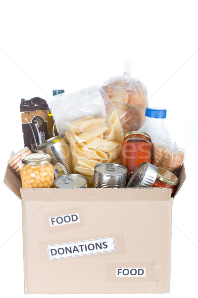 Box of food to donate Stock photo © fotoedu