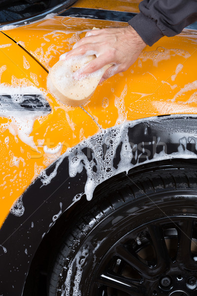 Car washing with soap Stock photo © fotoedu