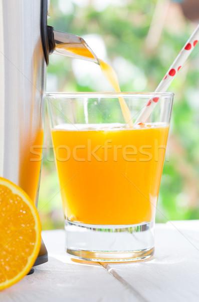 Naturalismo suco de laranja comida fruto vidro Foto stock © fotoedu