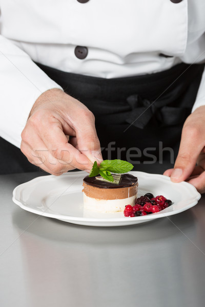 Stock photo: Cook desserts